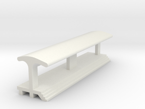 Straight, Long Platform - With Shelter in White Strong & Flexible