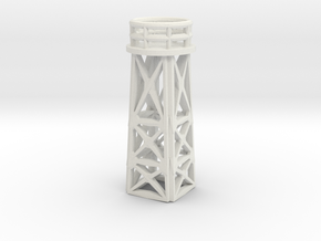 144 Scale Search Light Tower in White Strong & Flexible