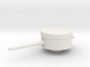 144 Scale 6 In Mk 13 Mod 1 Single Turret in White Strong & Flexible