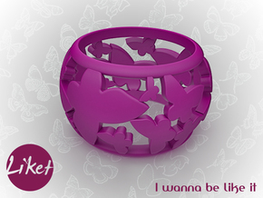 Butterfly orbit ring size 5 in Purple Strong & Flexible Polished