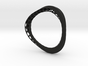 Organic Bangle 1.1 (Ladies 7cm diameter)  in Black Strong & Flexible