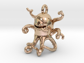 Octopus 63e Pendant in 14k Rose Gold Plated