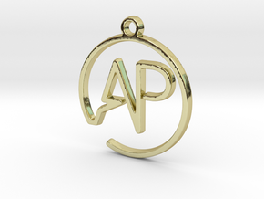 A & P Monogram Pendant in 18k Gold Plated