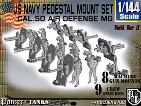 1/144 US Navy  AA M Gun Pedestal Mount in Frosted Ultra Detail