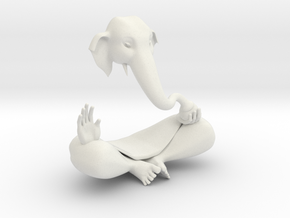 Indian GOD Statue Ganesha in White Strong & Flexible