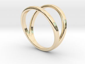 Split Ring Size 9 in 14k Gold Plated