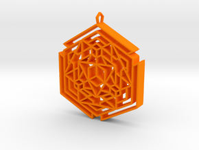 Metacube1  in Orange Strong & Flexible Polished