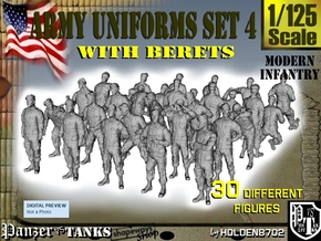 1-125 Army Modern Uniforms Set4 in Frosted Ultra Detail