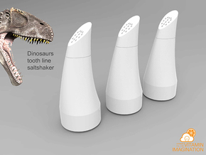 Dinosaurs Tooth line Saltshaker in White Strong & Flexible