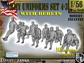 1-56 Army Modern Uniforms BERETS Set 4-3 in Frosted Ultra Detail