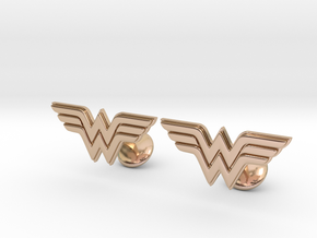 Wonder Woman Cufflinks in 14k Rose Gold Plated