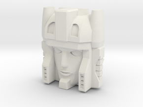 Minerva Faceplate (Titans Return) in White Strong & Flexible