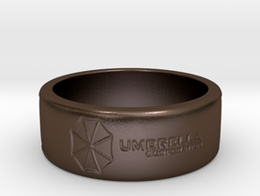 Umbrella corperation Ring in Polished Bronze Steel