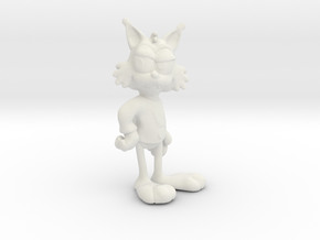 Bubsy in 3D (it's a pun!) in White Strong & Flexible