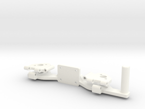 PHANTOM 2 - LEG HINGE PART 1 (COMPASS MOUNT) in White Strong & Flexible Polished