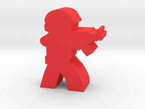 Game Piece, Red Force Rifleman in Red Strong & Flexible Polished