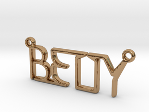 BETTY First Name Pendant in Polished Brass