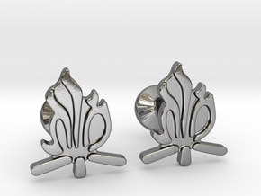 Hebrew Monogram Cufflinks - Tehiya & Mordi in Polished Silver