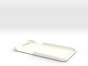 Cover for iPhone 6 (embossed logo and text) in White Strong & Flexible Polished