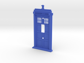 Tardis Light Switch Cover in Blue Strong & Flexible Polished