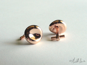 Red Blood Cell Cufflinks in 14k Rose Gold Plated