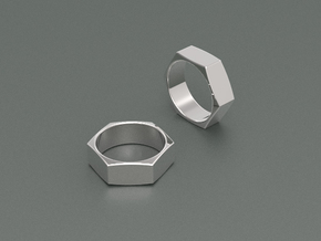 Ring Nut in White Strong & Flexible