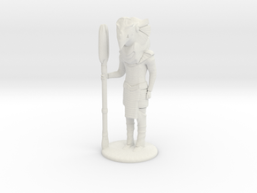 Falcon Guard  at Attention - 25 mm scale. in White Strong & Flexible