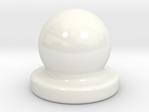 Porcelain Door Nob Plug in Gloss White Porcelain