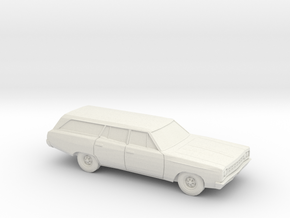 1/87 1968-70 Plymouth Satellite Station Wagon in White Strong & Flexible