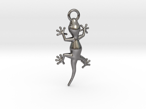 Gecko Luck in Polished Nickel Steel