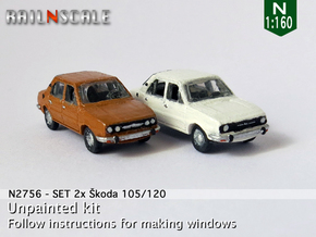 SET 2x Skoda 105/120 (N 1:160) in Frosted Ultra Detail