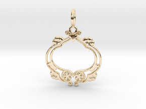 Nature No.8 Pendant in 14k Gold Plated