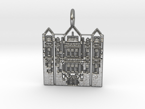 Chicago Pendant in Raw Silver