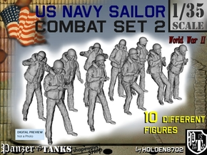 1-35 US Navy Sailors Combat SET 2 in Frosted Ultra Detail