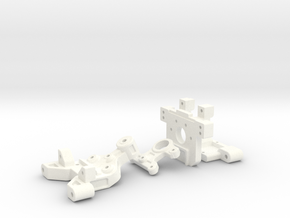NRC-32 Arm Mounts & Bulkhead in White Strong & Flexible Polished