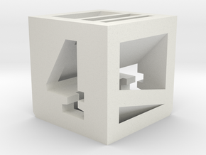 Photogrammatic Target Cube 4 in White Strong & Flexible