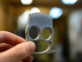 Knuckle Duster Beard Comb in Polished Metallic Plastic