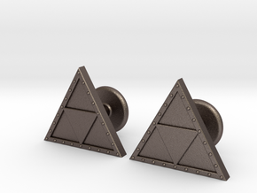 Triforce Cufflinks in Stainless Steel