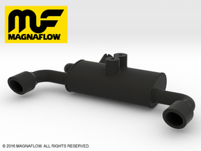 MF10001 Twin Exhaust NYLON in Black Strong & Flexible