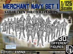 1/125 Merchant Navy Crew Set 1 in Frosted Ultra Detail