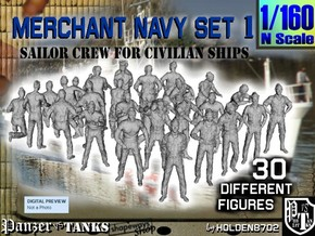 1/160 Merchant Navy Crew Set 1 in Frosted Extreme Detail