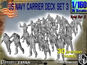 1/160 US Navy Carrier Deck Set 3 in Frosted Ultra Detail