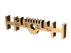 GRFLX 2.0 Clamp Sw Holder in Non-flexible material in Polished Brass