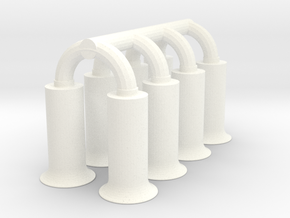 1/8 BBC Hilborn Injector Stacks Only in White Strong & Flexible Polished