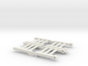 1/64 Danahoo trailer ramps in White Strong & Flexible