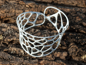 Voronoi Bracelet in White Strong & Flexible
