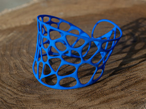 Voronoi Bracelet in Blue Strong & Flexible Polished