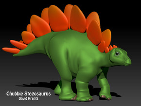 Stegosaurus Chubbie Krentz in White Strong & Flexible Polished
