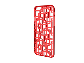 iPhone 6 / 6S Case_Connection in Red Processed Versatile Plastic