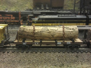 Yosemite Bulk Head Log Car x5 - N Scale 1:160 in Frosted Ultra Detail